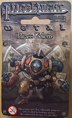 WizKids Mage Knight Metal - 502 Brass Golem Limited Edition (Mint, Sealed)