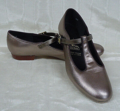 NIB!! Tic Tac Toes Heather Square Dance Shoe, Pewter