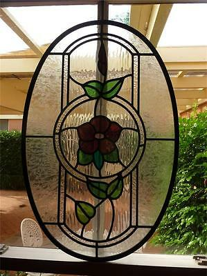 Leadlight Coloured Glass Oval Frames*can hang for display window Stained Glass