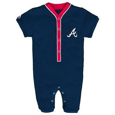 Atlanta Braves Baby Infant Player Coverall Pajamas (FREE SHIPPING) 6-9 months