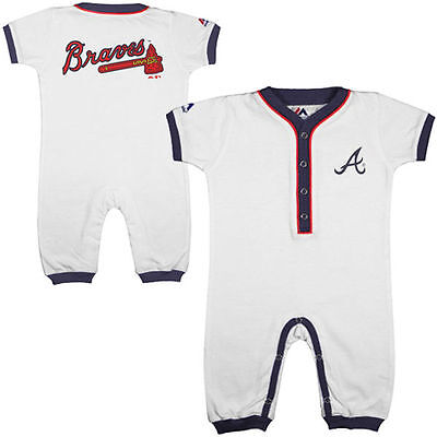Atlanta Braves Baby Infant Home MLB Coverall Pajamas (FREE SHIPPING) 3-6 months