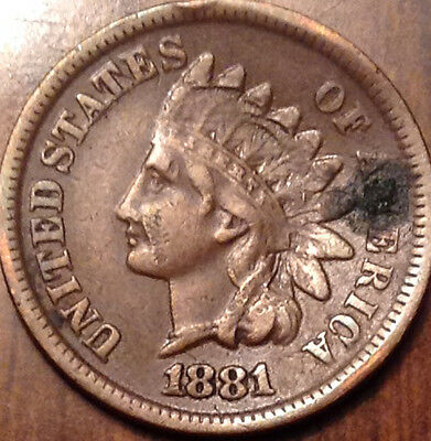1881 Usa Indian Head Small Cent