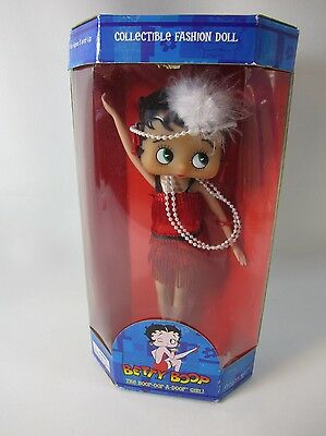 1999 Precious Kids Collectible Betty Boop Flapper Fashion Doll wStand NEW IN BOX