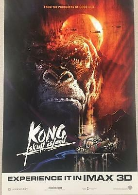 "KONG: SKULL ISLAND Original Promo Movie Poster 13""x19"" IMAX MINT Tom Hiddleston"