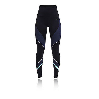 Rohnisch Shape Curved Womens Blue Black Compression Long Tights Bottoms Pants