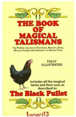 The Book Of Magical Talismans, The Black Pullet, Soft Cover, Lunari13, Wicca