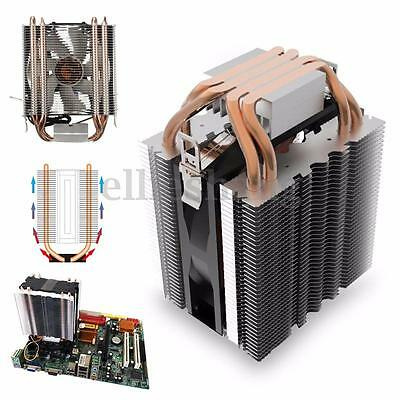 3Pin 12V Heat Pipe CPU Cooling Cooler Heatsink Fan for Intel LGA1150 775 AM3 AMD