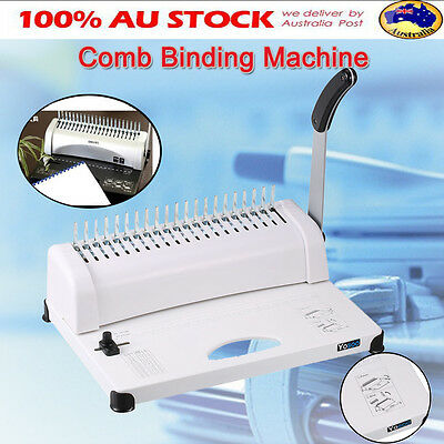 Office Paper Comb Binding Machine Standard 21 Hole A4 Plastic Coil Punch Binder
