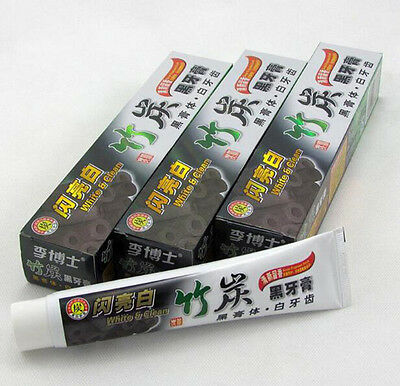 Black Charcoal 100g New Health 1Pcs Bamboo Clean Whitening Toothpaste Teeth