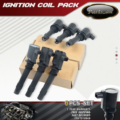 6x Ignition Coil for Ford Falcon Fairmont Fairlane LTD BA BF XR6 Territory SX SY