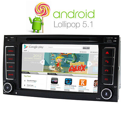 UK Warranty Android 5.1 car DVD GPS sat nav for VW T5 multivan DAB+ RDS BT WIFI