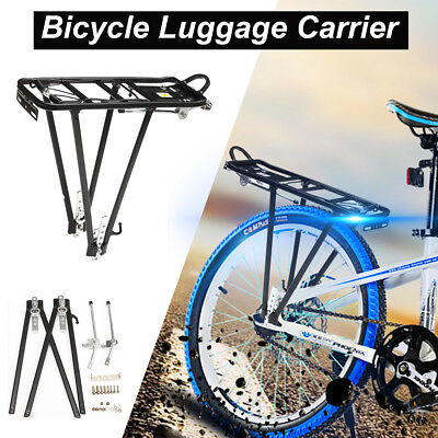 Mountain Bike Rear Bicycle Rack Seat Post Mount Alloy Pannier Luggage Carrier