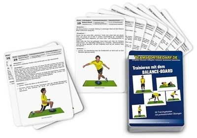 Trainingskarten - Balance Board Therapiekreisel Wackelbrett (30 Workouts)