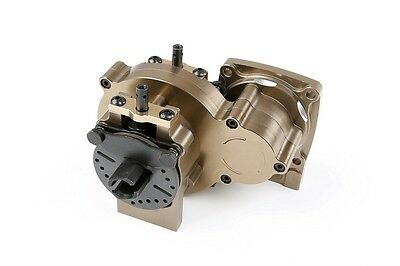 Alloy CNC Center Complete Differential Gear with Case Titanium for Losi 5ive T