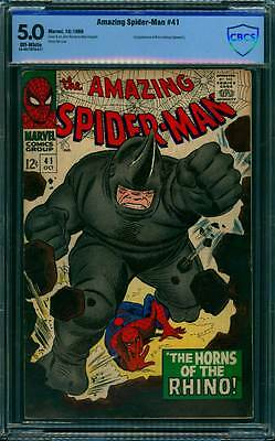 Amazing Spider-Man # 41  First appearance of the Rhino ! CBCS 5.0  scarce book !