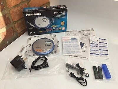 Boxed PANASONIC SL-CT590 Portable CD Player - Excellent Condition - Tested