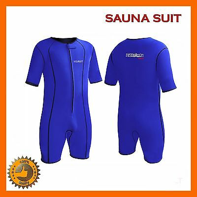 Neoprene Sweat Suit Sauna Exercise Gym Suit Fitness Weight Loss Compression Sz X