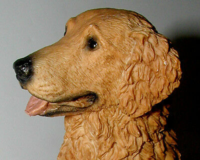Gorgeous Alabaster/Resin GOLDEN RETRIEVER - NEW w/ Orig Box Perfect Condition