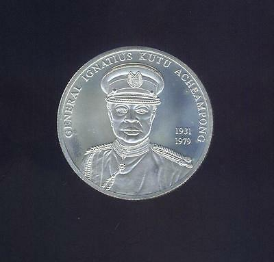 Ghana Gem Uncirculated 2002 100 Sika, 1+ Troy Oz. .925 Silver, Free USA Shipping
