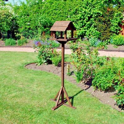 Premium wooden bird table garden birds feeder feeding station free standing