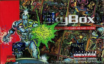 1993 Skybox Marvel Universe Series 4 Factory Sealed Box In Mint Condition!