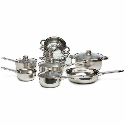 Sabichi 9 pc Stainless Steel Complete Cookware Set Kitchen Utensil 173652_I