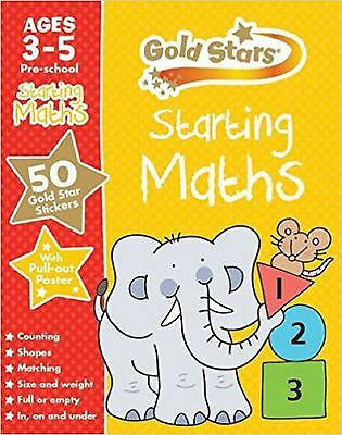 Starting Maths Ages 3-5 Pre-School, Gold Stars, New Book