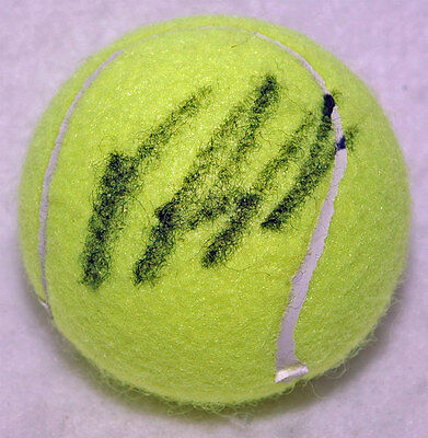 Vasek Pospisil Tennis autograph, In-Person signed Tennis Ball