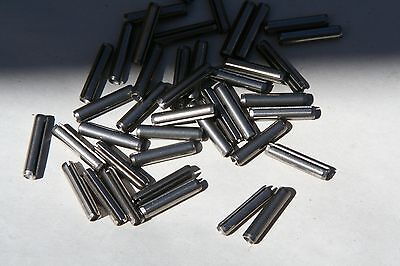 """25 Pieces   1/16 X 1/2"""" Thru 1""""   18-8 Stainless Steel Spring Pins  -  Roll Pin"""