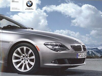 2010 BMW 650i Coupe 650i Convertible Prestige Brochure d0784