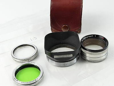 Rolleiflex Bay I Fit Lens Hood 7 Filter Kit Cased Rolleicord Autocord 10