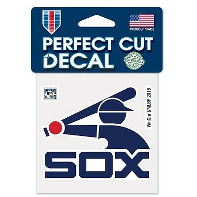 "Chicago White Sox 4"" x 4"" Retro Logo Truck Car Auto Window Die Cut Decal NEW"