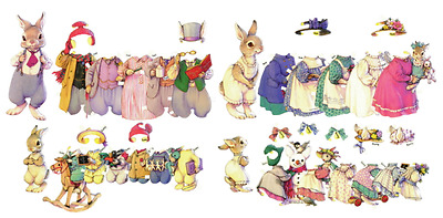 Shackman The Hopper Family Paper Dolls And Clothes lot Fred Rose Bobby and Bunny