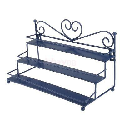 3-5 Tier Nail Polish Storage Rack Organizer Metal Display Shelf Wall Mount Stand