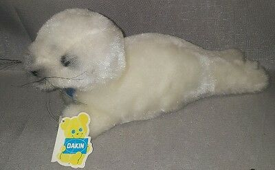 "Vintage 1982 Dakin Plush Stuffed Nature Babies Harmony Harp Seal 16"" w/ Tags"