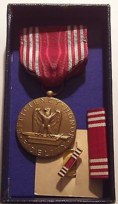 VINTAGE WW II Army Good Conduct Medal Set in BOX Named BRIN