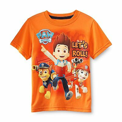 Nickelodeon Paw Patrol Boys Size 2T Graphic Tee Shirt Orange Clearance New Tags