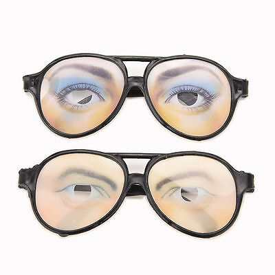Crazy Eyes Glasses Funny Specs Shape Changing Fancy Dress Shades Stag Party Joke