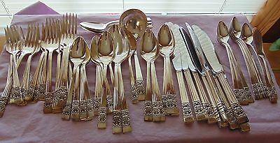 61 Pieces Coronation Community Silver Plate (1936) by Oneida - Service for 8