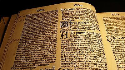 "1503 - POST INCUNABULA Commentary of St. Thomas on the ""Sentences"" of P. Lombard"