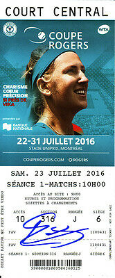 Elina Svitolina Signed 2016 Montreal Canada WTA Rogers Cup Tennis Ticket