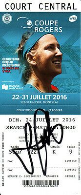 Lucie Safarova Signed 2016 Montreal Canada WTA Rogers Cup Tennis Ticket