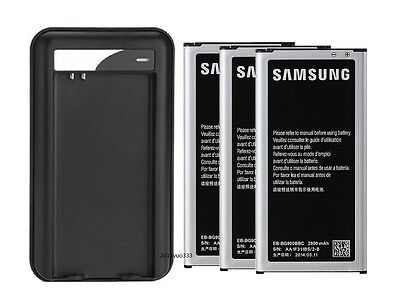 New Replace Battery + Charger For Samsung Galaxy S5 S4 S3 Note 4 Note 3 Note 2