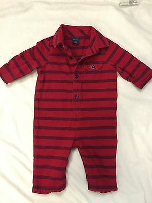 Baby Gap Infant Newborn Boy 3-6 Months 1 piece Red Romper Clothing Outfit