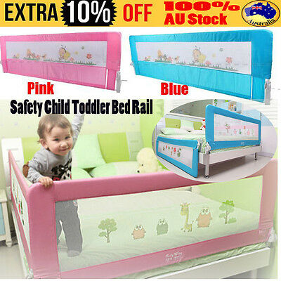 Safety Child Toddler Bed Rail Baby Bedrail Fold Cot Guard Protection Pink&Blue D