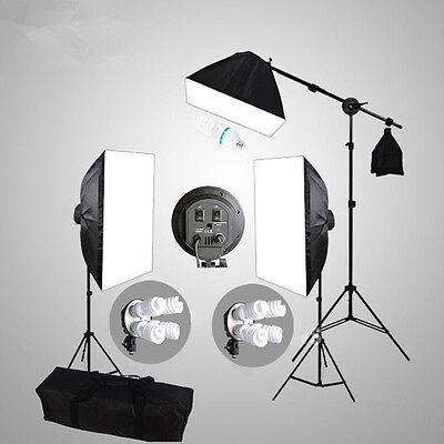 4HEAD Photo Studio Softbox Continuous Lighting Soft Box Light Boom Arm Stand Kit