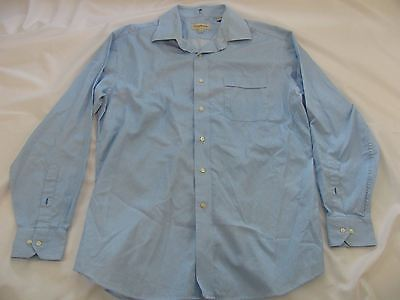 Tommy Bahama Blue/White Striped Long Sleeve Mens Shirt Size 16 1/2 34-35
