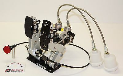 2 PEDAL, PE DRAG RACING PEDALBOX, with CABLE THROTTLE, FLOOR MOUNT #PE-003-1001