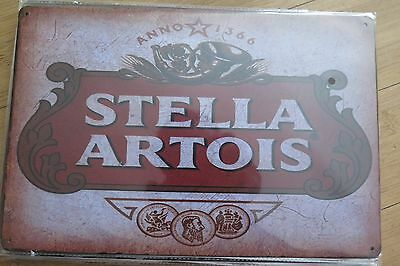stella artois tin metal sign MAN CAVE brand new or for the  bar