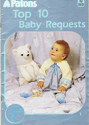 VINTAGE Knitting Pattern Book Patons 717 * TOP 10 BABY REQUESTS shawl JACKET